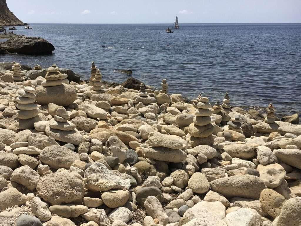 zen relax piedras playa